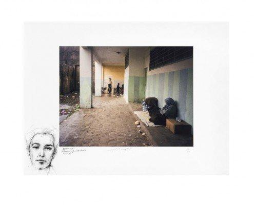 Ernest Pignon-Ernest, Alger 2003 Parcours Audin, 2015, estampe numérique, 40ex, 80x60cm ©Ernest Pignon-Ernest courtesy Galerie Lelong Paris -