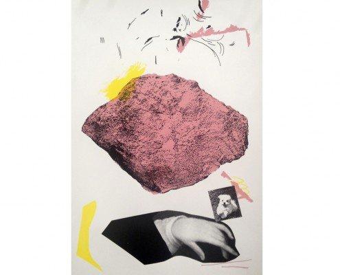 Collectif Dessins des Fesses, FACES, 2015, sérigraphie, portfolio contenant 5 sérigraphies trois couleurs ©Modulab -