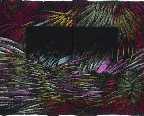 Julien Colombier, Dyptique, 2015, 80x60 cm x2, digraphie, édition de 20+10EA ©Courtesy LN Edition