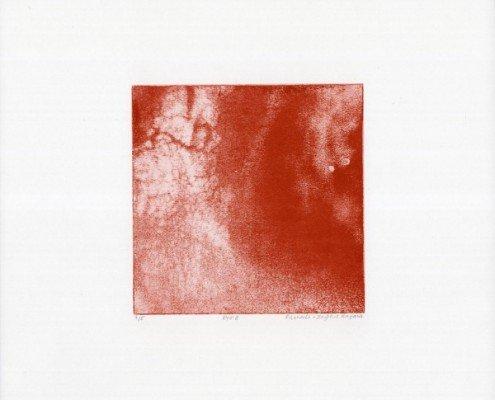 Pascale Sophie Kaparis, EYE 8, photogravure, 32,5 cm x 32,5 cm, 15 cm x 15 cm