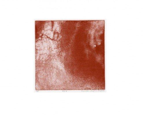 Pascale Sophie Kaparis, EYE 8, photogravure, 32,5 cm x 32,5 cm, 15 cm x 15 cm (détail) -