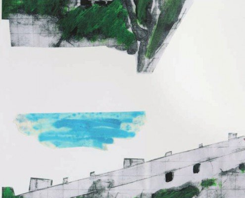 Pierre Buraglio «94» (A), 2015 - 50 x 40 cm - 15 variations, Galerie Catherine Putman