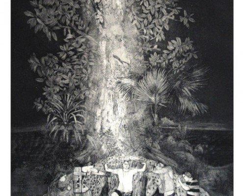 Revelaciones de una noche subtropical, Delfina Estrada, 2011, aquatinte, 43x60cm ©Delfina Estrada