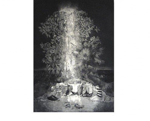 Revelaciones de una noche subtropical, Delfina Estrada, 2011, aquatinte, 43x60cm ©Delfina Estrada -