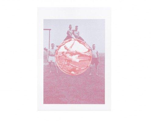 documentation céline duval, Le Cercle, 2015, sérigraphie sur papier Rivoli en 2 couleurs, éd. 100ex, 70x50cm ©A.Mole -