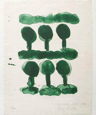 _Dieter Roth, Langenthal, 1986, lithographie, ed. 12ex, 83x64,5cm ©galerie Claudine Papillon